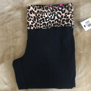 Material Girl Active NWT Crop Leggings Animal Band